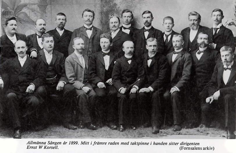 Allmänna sången Visby anno 1899