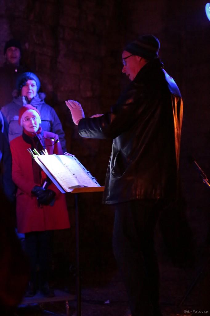 Allmänna Sången Visby i St Lars ruin, 2013-11-30. Fotograf: Andreas Landquist